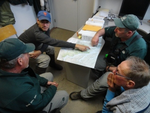 Planning our expedition to Swale Island, Terra Nova National Park.