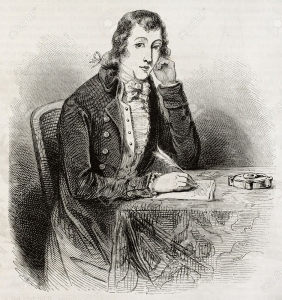 Portrait of Alexander Wilson, created by Paquet after American engraving of unidentified author. Published on Magasin Pittoresque, Paris, 1850